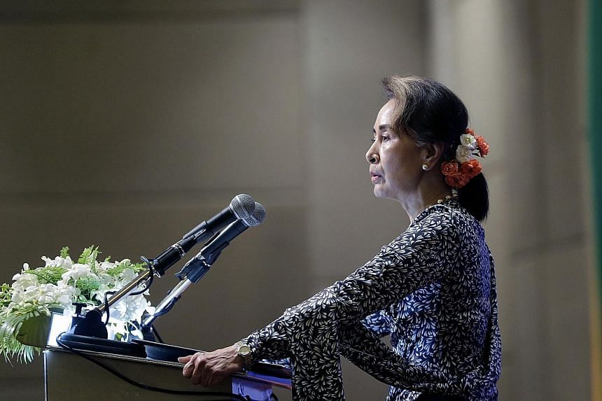 Ms Aung San Suu Kyi was awarded the Nobel Peace Prize in 1991 and is a former political prisoner herself.