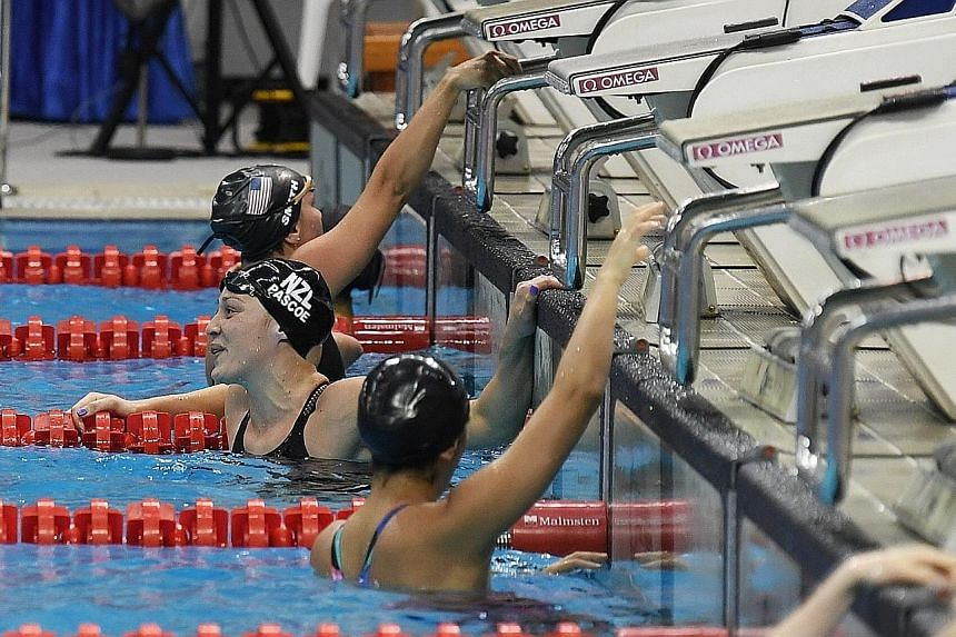 New Zealand's Sophie Pascoe set the women's 50m freestyle (S9) world record of 27.69 seconds at the Singapore World Para Swimming World Series yesterday. The 26-year-old, a nine-time Paralympic champion, won the event with 1,041 points. She held the