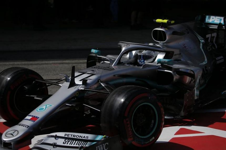 Mercedes' Finnish driver Valtteri Bottas takes part in the qualifying session at the Circuit de Catalunya in Montmelo in the outskirts of Barcelona on May 11, 2019 ahead of the Spanish Formula One Grand Prix.