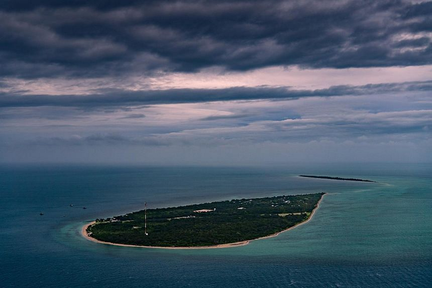 A view of Masig Island, one of the low-lying islands in the Torres Strait, on May 3, 2019.