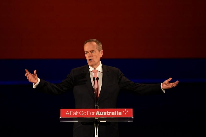 Australian opposition leader Bill Shorten speaks during the 2019 ALP Final Week Rally at the Clocktower in Melbourne, on May 12, 2019.