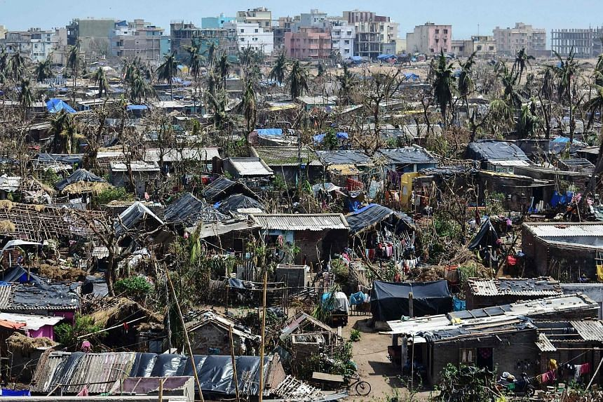 A view of Puri in the eastern Indian state of Odisha after the passage of cyclone Fani on May 10, 2019.