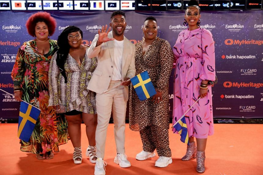 Contestants John Lundvik of Sweden on the orange carpet during the opening ceremony of the 2019 Eurovision Song Contest in Tel Aviv, Israel on May 12, 2019.