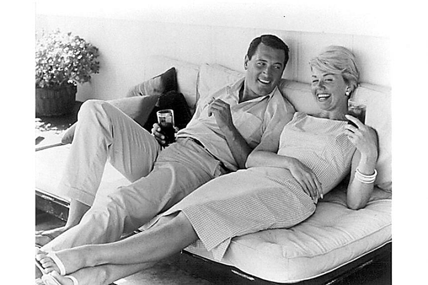 Doris Day with US actor Rock Hudson, with whom she co-starred in several Hollywood films in the 1960s.