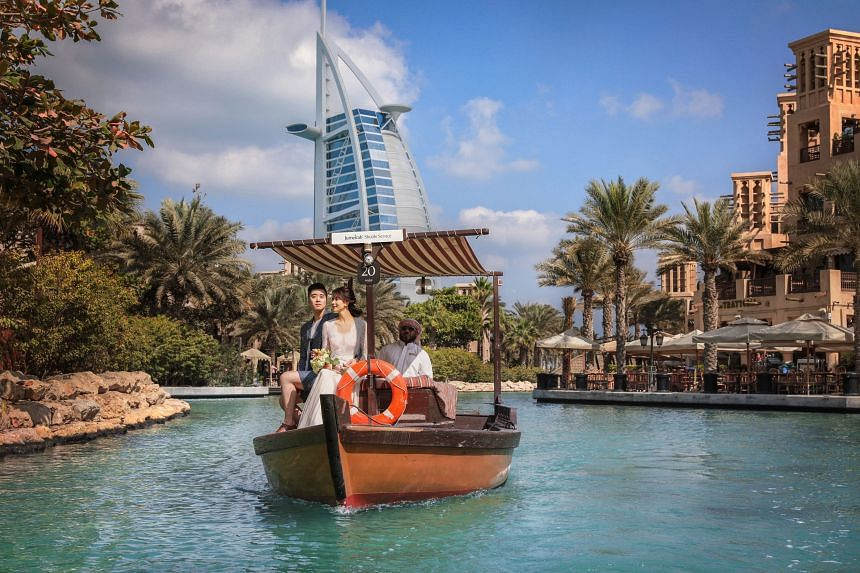 Built to resemble a typical Arabian town, Madinat Jumeriah features a 5km-long river system with a fleet of traditional abras. PHOTO: TOURISM DUBAI