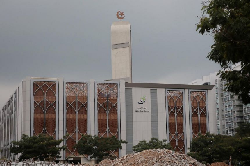 The largest mosque in Singapore, the Masjid Darul Ghufran in Tampines.