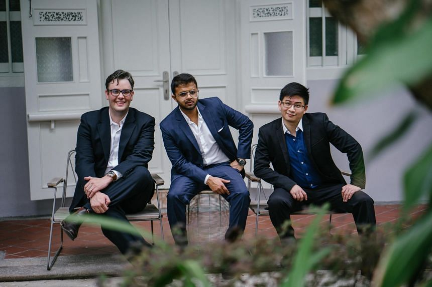 Singapore-based education start-up Cialfo announced that it has raised US$3 million in funding on May 14, 2019. The company has 25 employees and is headed by (from left) chief product officer William Hund, chief executive officer Rohan Pasari and chi