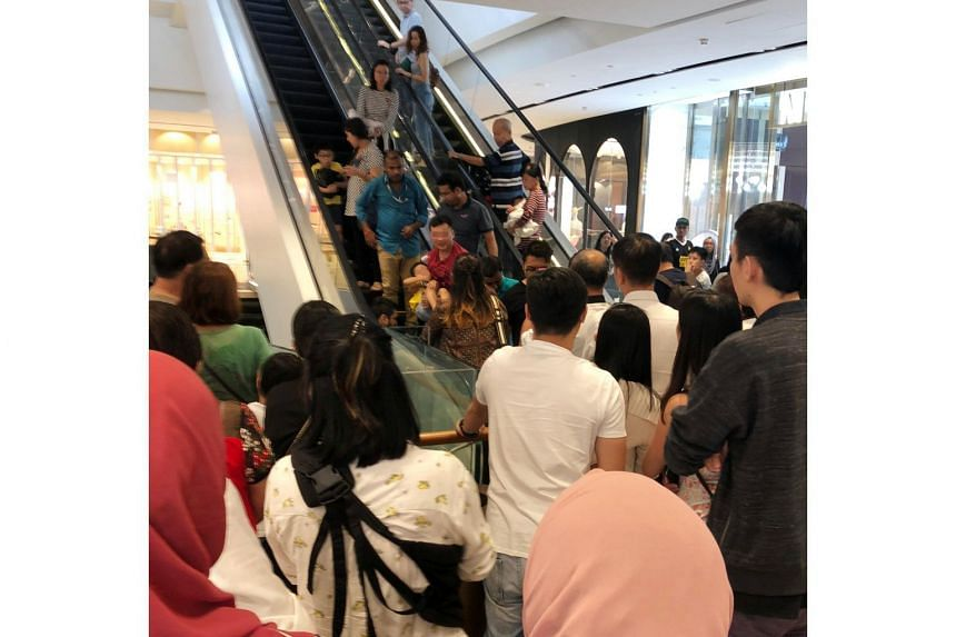 A five-year-old boy had a minor cut on his toe after his footwear was caught in an escalator at Jewel Changi Airport.