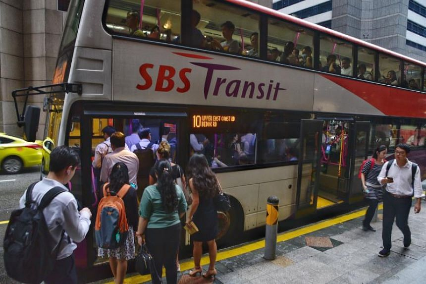 Transport operator SBS Transit's profit margin before interest, tax and depreciation improved to 14.8 per cent, up from 13.6 per cent in the previous corresponding quarter.
