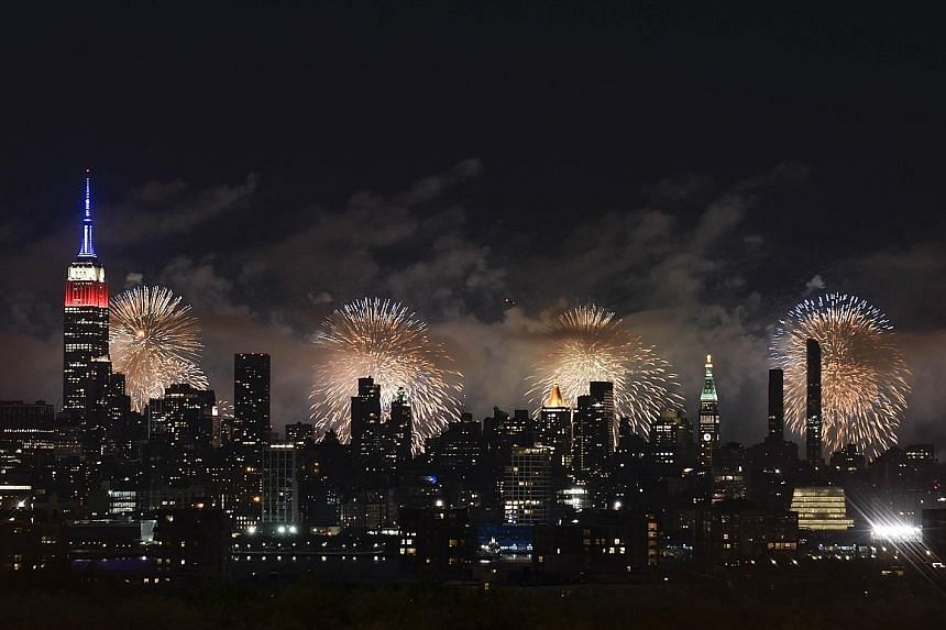 Fireworks over New York City during the 2017 US Independence Day celebrations. This year's edition in Washington is set to be dominated by President Donald Trump, who plans a starring role for himself .