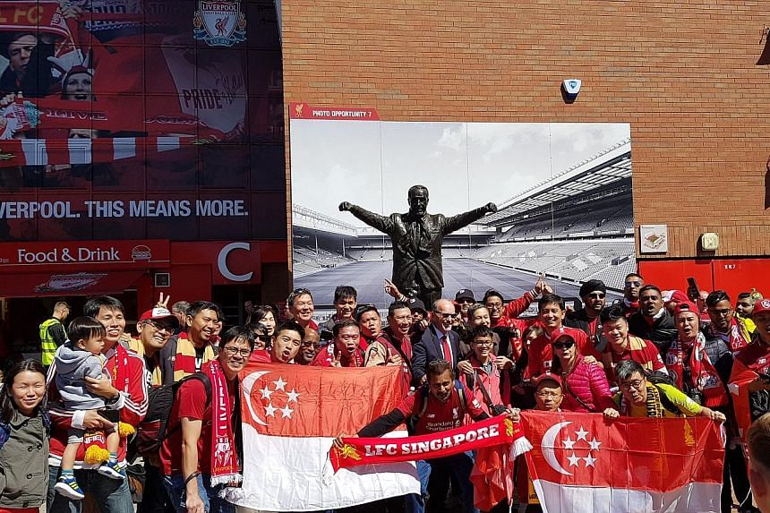 Over 40 Liverpool fans from Singapore flew to Anfield for the match against Wolves on Sunday. Although disappointed, they returned with renewed hope for the team's future. PHOTO COURTESY OF AARON KOK