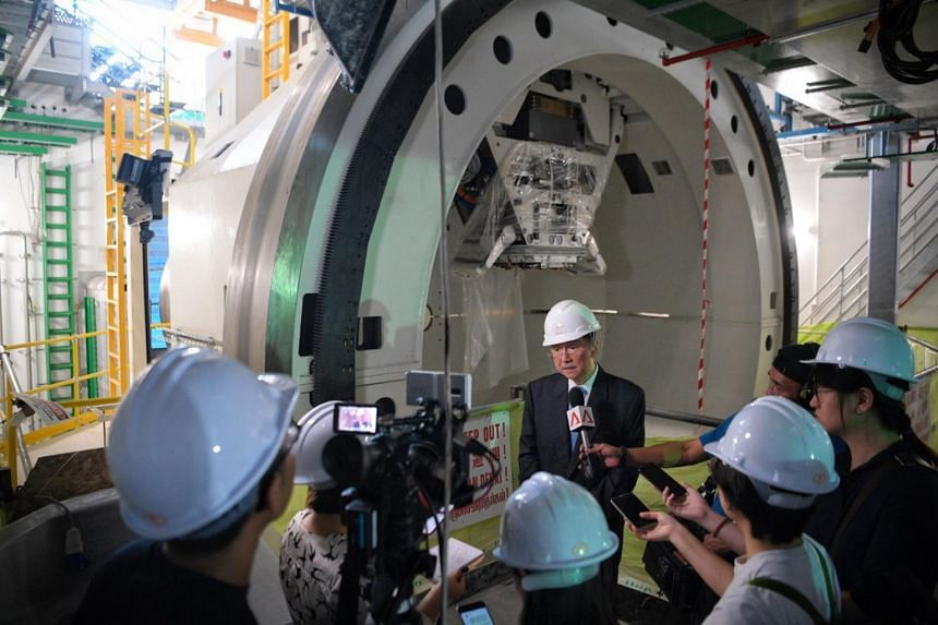 Dr Djeng Shih Kien, chairman and CEO of Singapore Institute of Advanced Medicine Holdings near the treatment room of the ProBeam Proton Therapy System on 14 May, 2019.