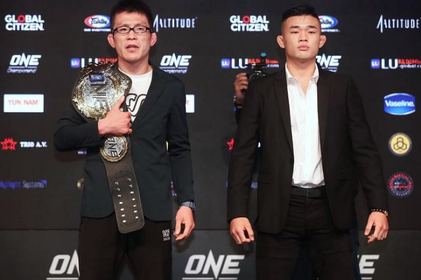 One Lightweight world champion Shinya Aoki (left) will fight Christian Lee  in the first round of the One: Enter the Dragon main event.
