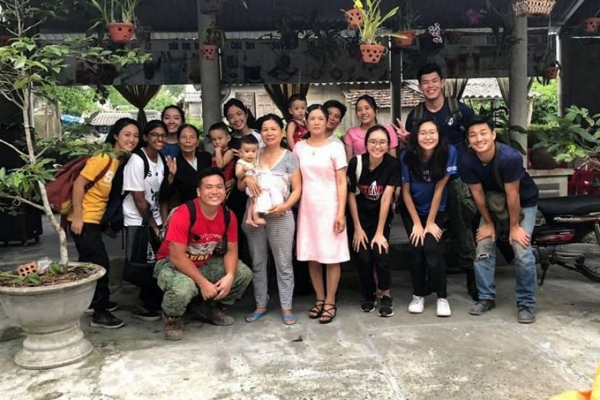 The students were part of a group of 30 who were in the central Vietnamese city of Hue for the fourth edition of Project Phoniksa, launched by the university's Rotaract Club.
