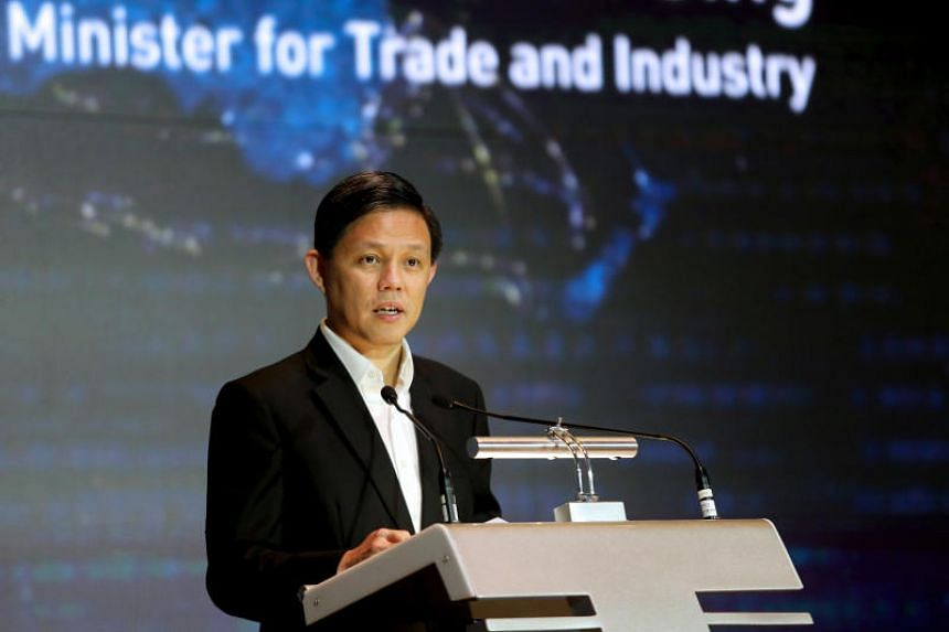 Minister for Trade and Industry Chan Chun Sing said the existence of a maritime rules-based order shows that countries can come together to cooperate and not just to compete.