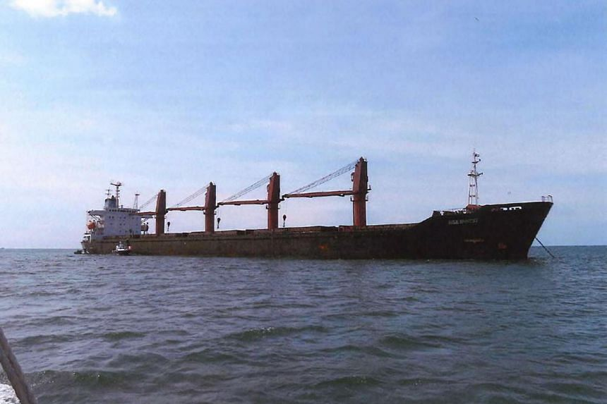 The US Justice Department said it had taken possession of North Korea-registered bulk carrier M/V Wise Honest, citing illicit sanctions-busting activities.