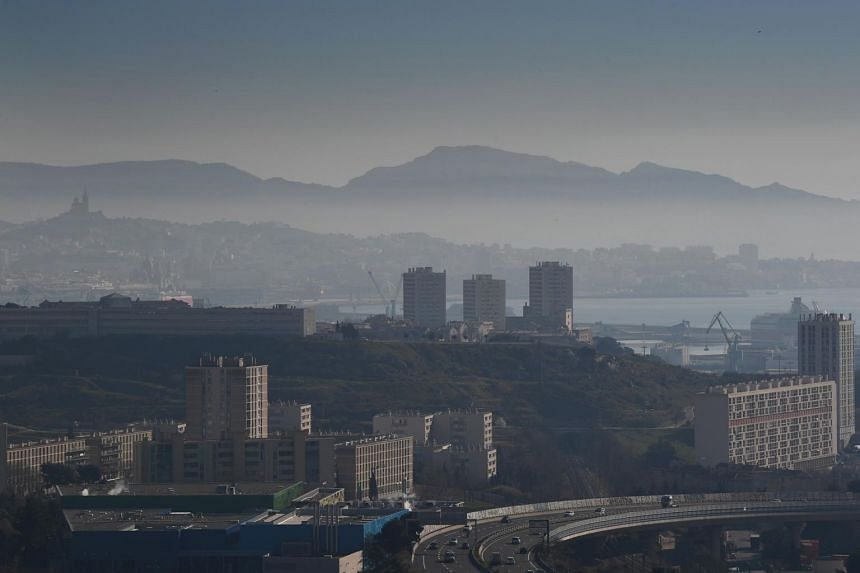 General view of the city of Marseille, France, through a haze of pollution. The last time Earth's atmosphere contained this much CO2 was more than three million years ago.