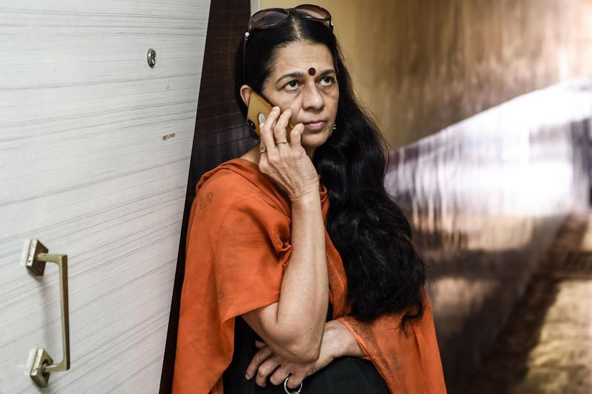 Indian detective Rajani Pandit at her office in Mumbai on January 29, 2019. She is in high demand from political parties looking to dig up dirt on their opponents during election season.