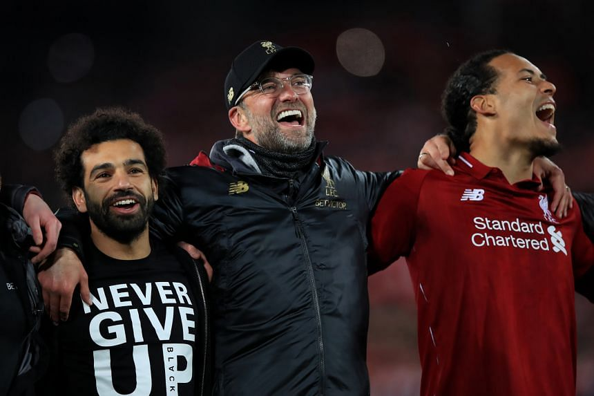Ray Houghton has praised Liverpool manager Jurgen Klopp (centre, with Mohamed Salah and Virgil van Dijk), for understanding what the supporters want and signing the right players.