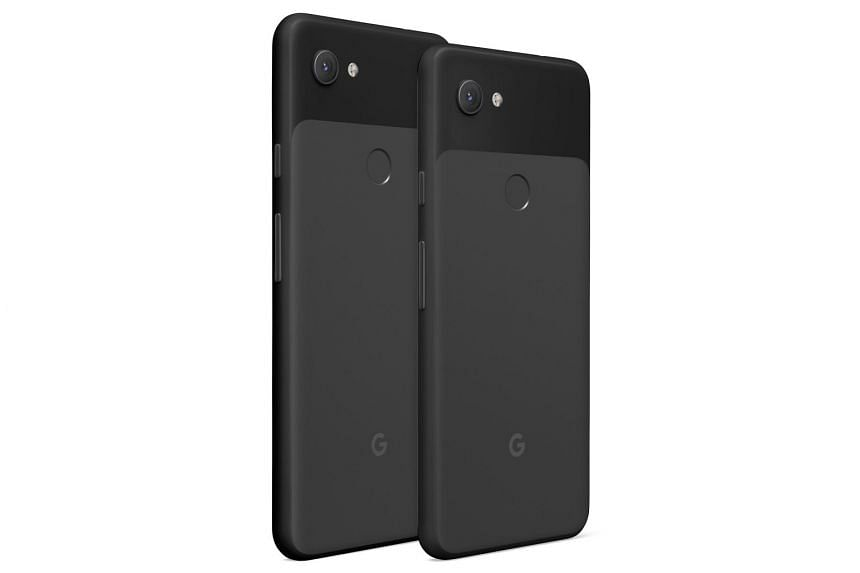 The smaller Pixel 3a (right) weighs 147g and comes with a 3,000mAh battery. The Pixel 3a XL weighs 20g more and has a 3,700mAh battery.