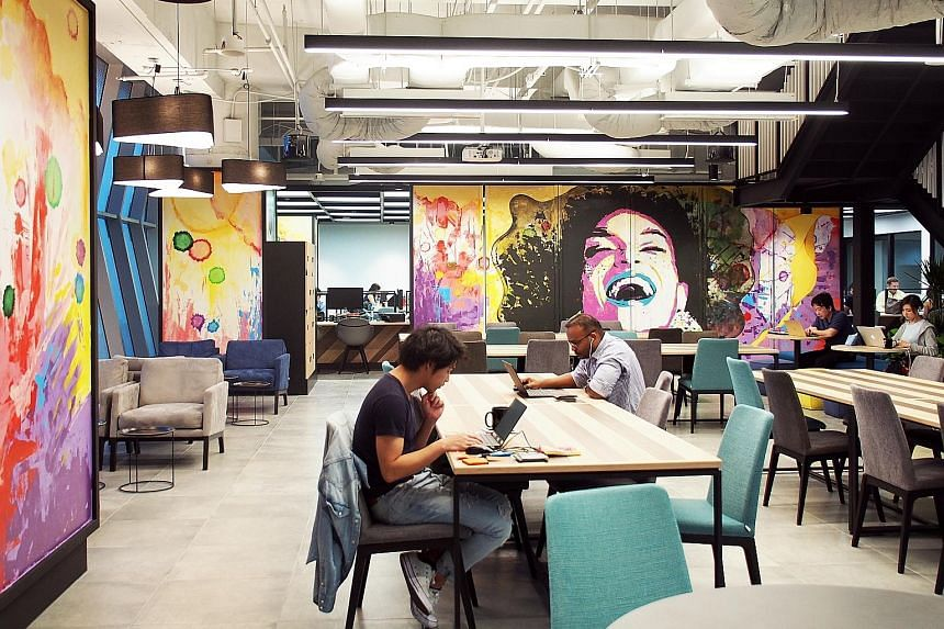 JustCo's co-working space at UIC Building. The Singapore-based company's new co-working centres in Taipei will bring its network to 32 centres in eight cities.