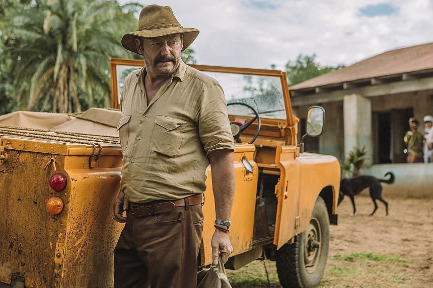 Dr Wade Carter (above) in the Ebola thriller The Hot Zone.
