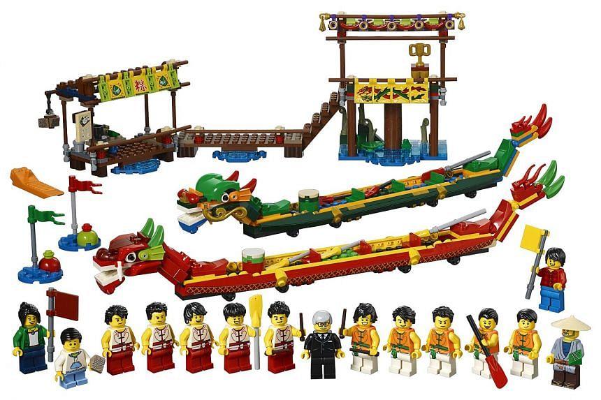 Lego Dragon Boat Race set