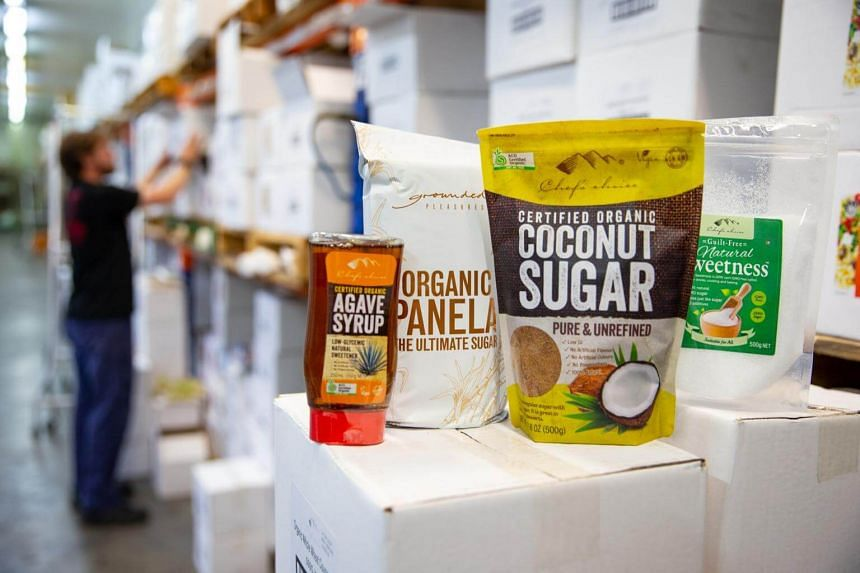 Sugar substitutes at the Importers & Selectors Of Artisan Foods warehouse in Perth, Australia, on May 6, 2019.