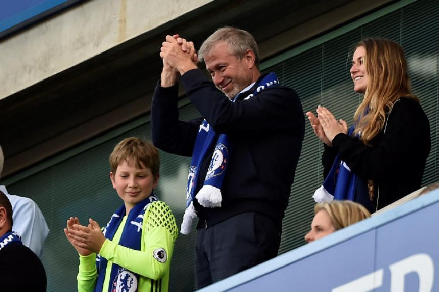 Russian billionaire Roman Abramovich ran into problems renewing his British visa last year amid tensions between the two countries and he has not been seen at Chelsea's matches this season.