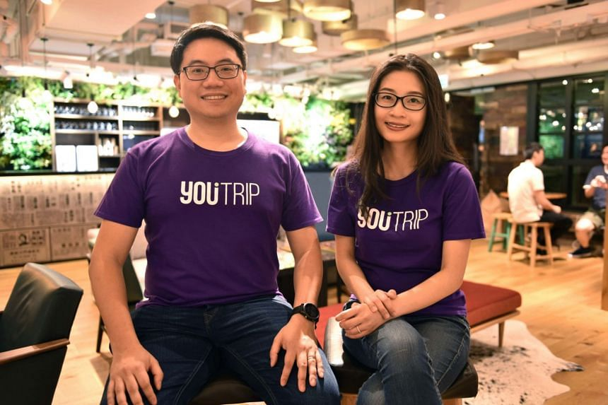 YouTrip founders Arthur Mak and Caecilia Chu. The US$25.5 million in funding raised by the company will be used to drive its expansion in South-east Asia.