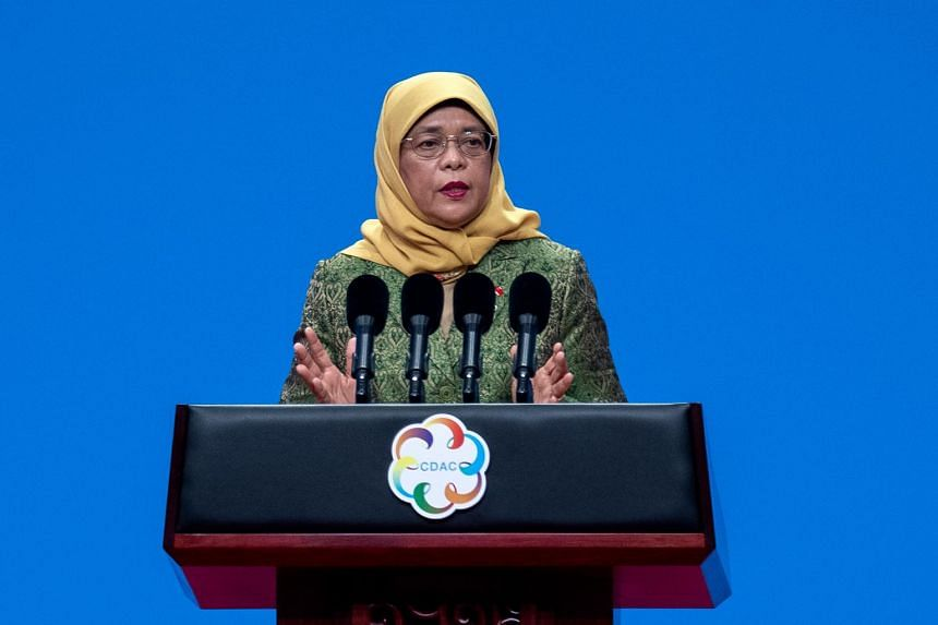 President Halimah Yacob pointed out that Singapore's diversity also means it can tap cultural and language similarities, and familial ties to help make friends with other Asian countries.