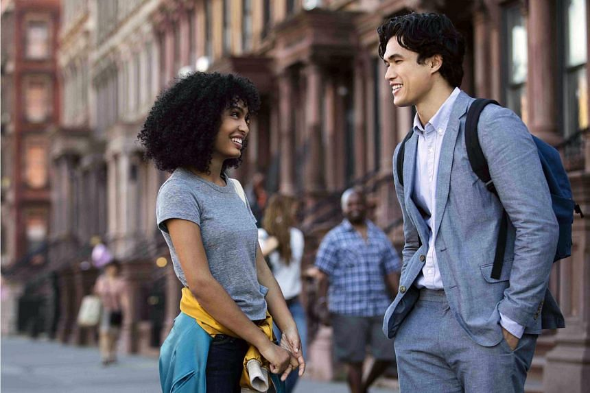 In The Sun Is Also A Star, Yara Shahidi (left) plays Natasha, a Jamaican-born woman whose family is facing deportation from the United States. She falls in love with Korean-American Daniel (Charles Melton).