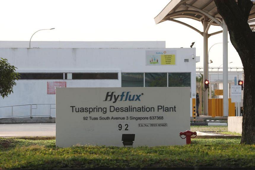 The Hyflux Tuaspring desalination plant in Tuas.