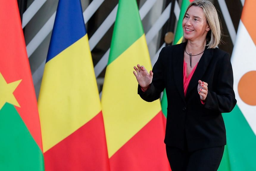 """The letter by top US defence officials to EU diplomatic and security chief Federica Mogherini (above) says """"poison pills"""" embedded in proposed rules would shut third country allies such as the United States out of European projects."""