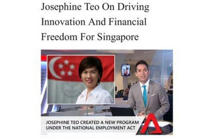 Manpower Minister Josephine Teo said that all statements attributed to her about launching the online platform were completely false.