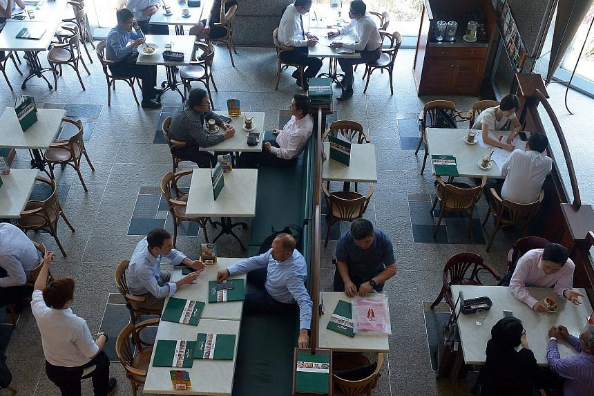 Customers at the Dome Cafe once located in UOB Tower 1 at Raffles Place. The casual bistro will close its last outlet in Singapore, at Parkway Parade, on June 23.