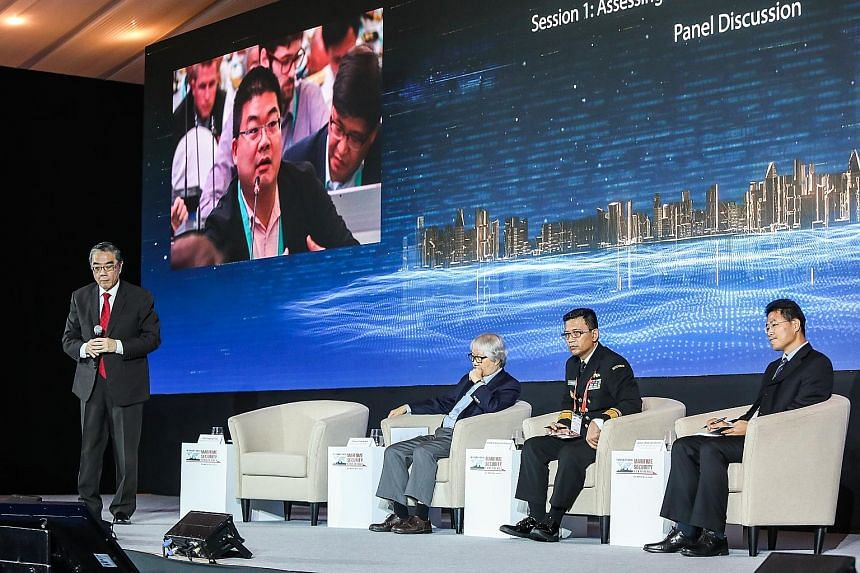 From left: Ambassador Ong Keng Yong, the moderator, and panellists - Ambassador-at-Large Tommy Koh, Rear-Admiral Dr Amarulla Octavian of the Indonesian Navy and Captain (Ret) Tian Shichen, research fellow with the Collaborative Innovation Centre of S