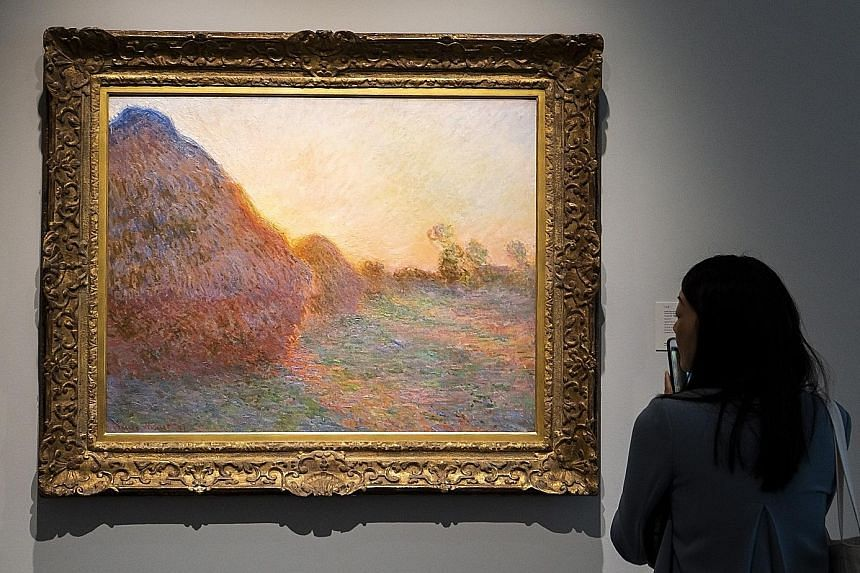The sale at Sotheby's on Tuesday of this Claude Monet painting, from his celebrated Meules (Haystacks) series, fetched one of the 10 highest auction prices.