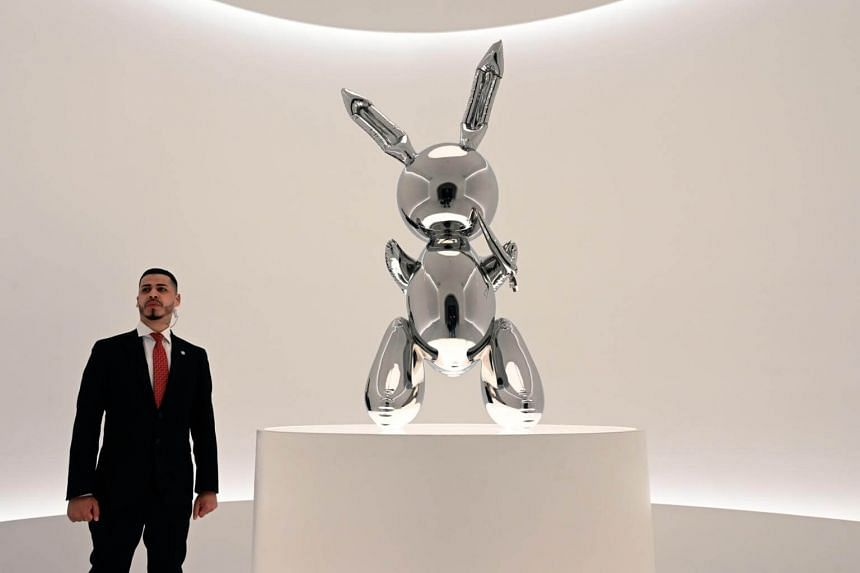 Jeff Koons' Rabbit from the Masterpieces from The Collection of S.I. Newhouse at Christie's New York. It beat the record at auction for a work by a living artist.