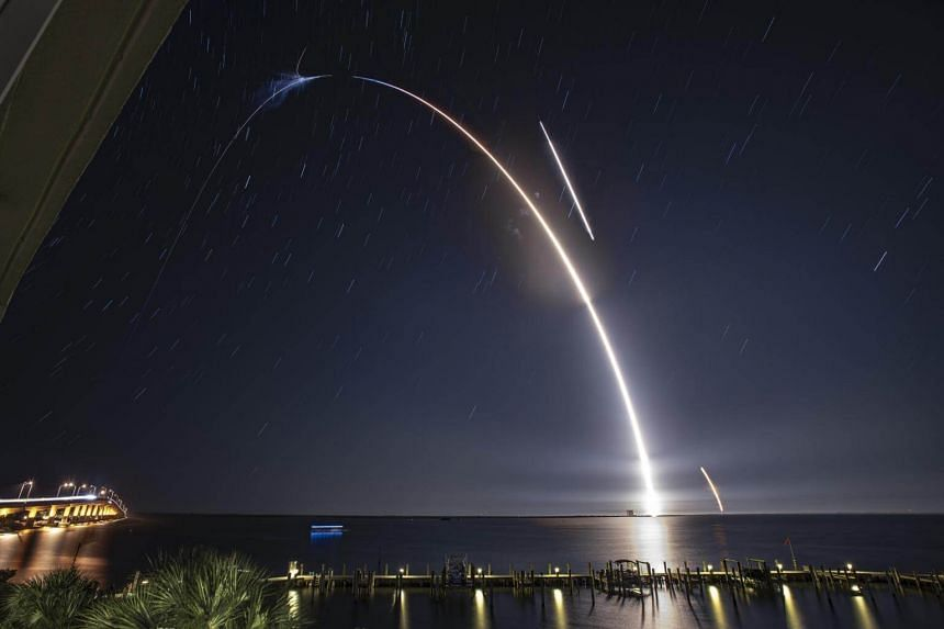 SpaceX's Falcon 9 rocket blasts off from Cape Canaveral Air Force Station Space Launch Complex 40 on May 4. The rocket was due to launch again on May 15 carrying 60 Starlink satellites weighing 227kg, the heaviest payload for any SpaceX rocket to dat