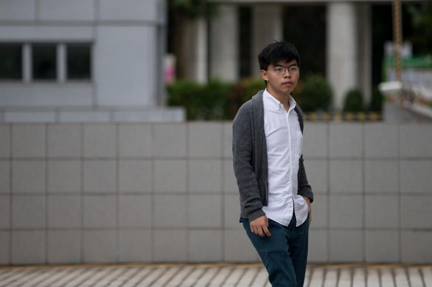 Joshua Wong lost an appeal against a prison term handed down in January 2018 for contempt of court.
