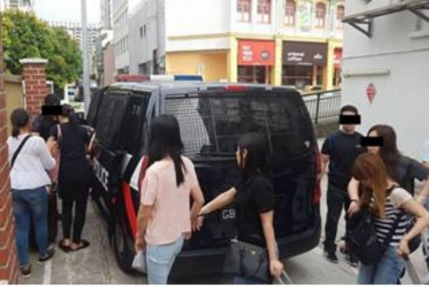 Raids were conducted at multiple locations islandwide, including at condominiums, hotels and residential units in Geylang, Woodlands, Yishun, Jurong West, Hougang and along Balestier Road.