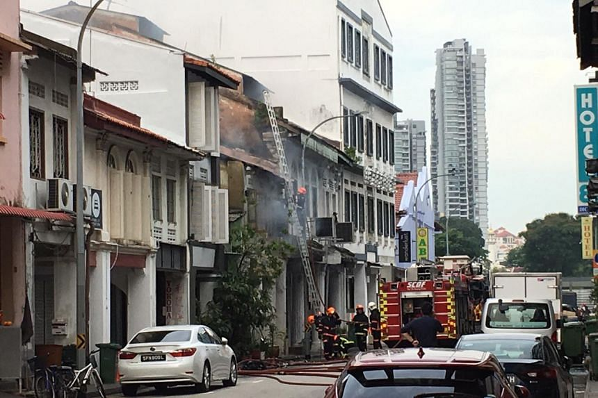 In an update at 4.20pm on May 16, 2019, the Singapore Civil Defence Force said that the fire was under control, and six handheld jets were used to contain the fire.