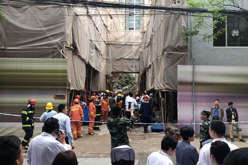 The accident occurred around 11.30am in an area of central Shanghai.