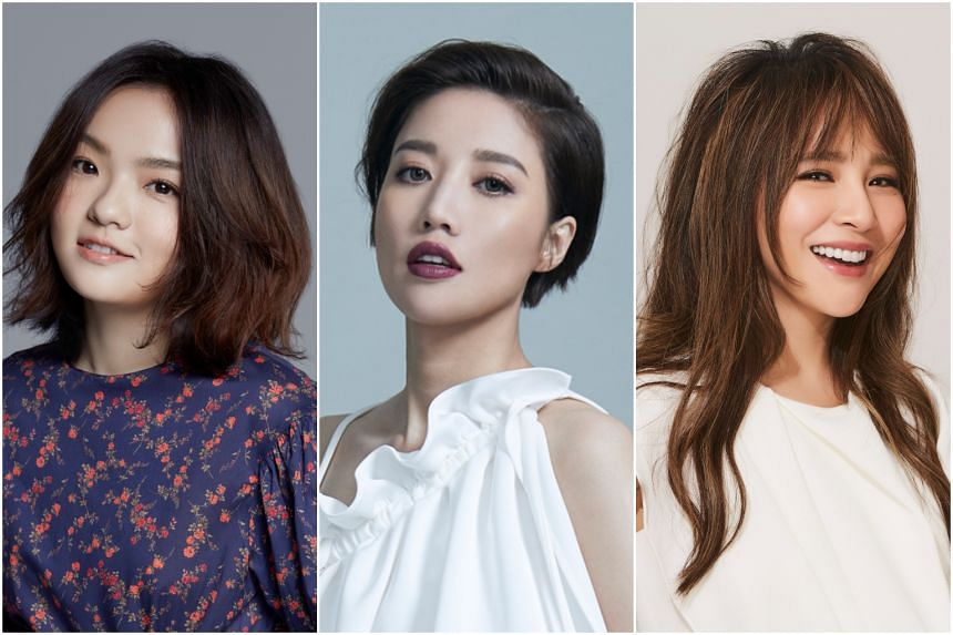The concept for the upcoming show derives from the Chinese reality programme, I Am A Singer, which (from left) singers Lala Hsu, A-lin and Rachel Liang have appeared on.