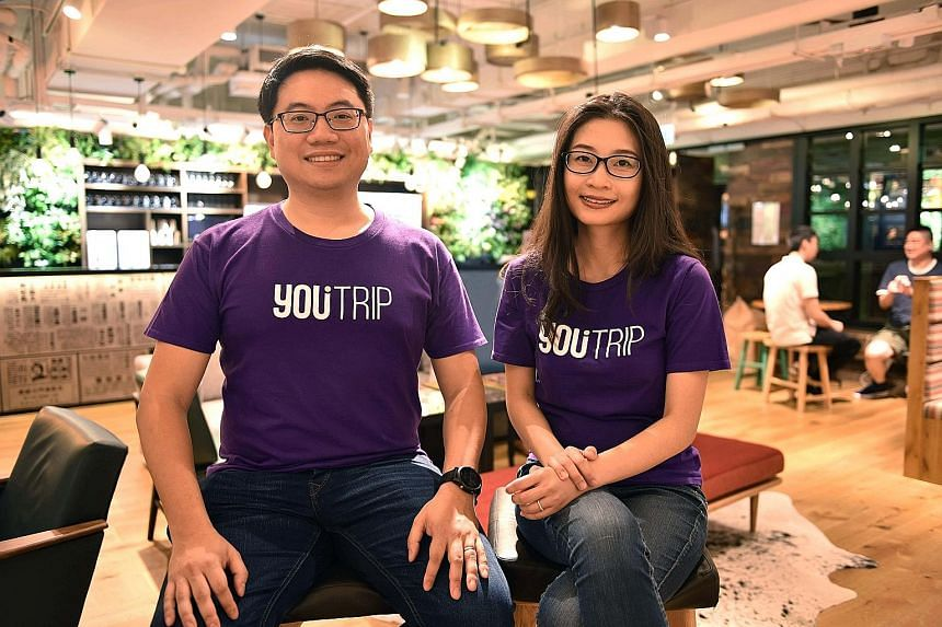 YouTrip founders Arthur Mak and Caecilia Chu launched the multi-currency mobile wallet in Singapore last August in collaboration with EZ-Link. The firm has 70 employees here and in Hong Kong.
