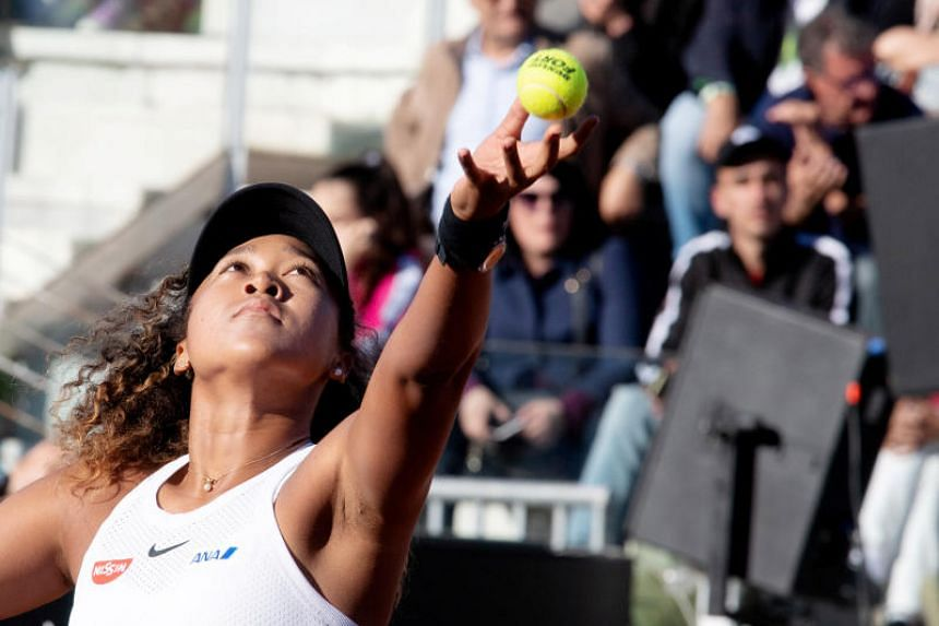 Japan's Naomi Osaka in action during her third round match against Romania's Mihaela Buzarnescu.