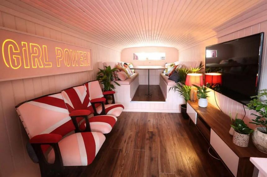 Spice Girls superfan Suzanne Godley has converted the famous Spice Girls bus from the 1997 movie Spice World into a swanky apartment in Wembley Park, London.