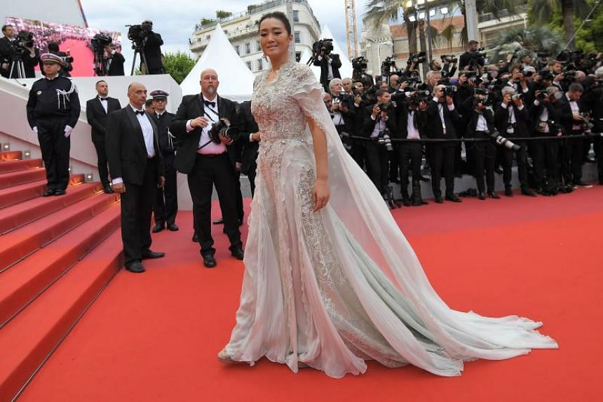 Gong Li arrives for the screening of The Dead Don't Die during the 72nd edition of the Cannes Film Festival in Cannes on May 14, 2019.