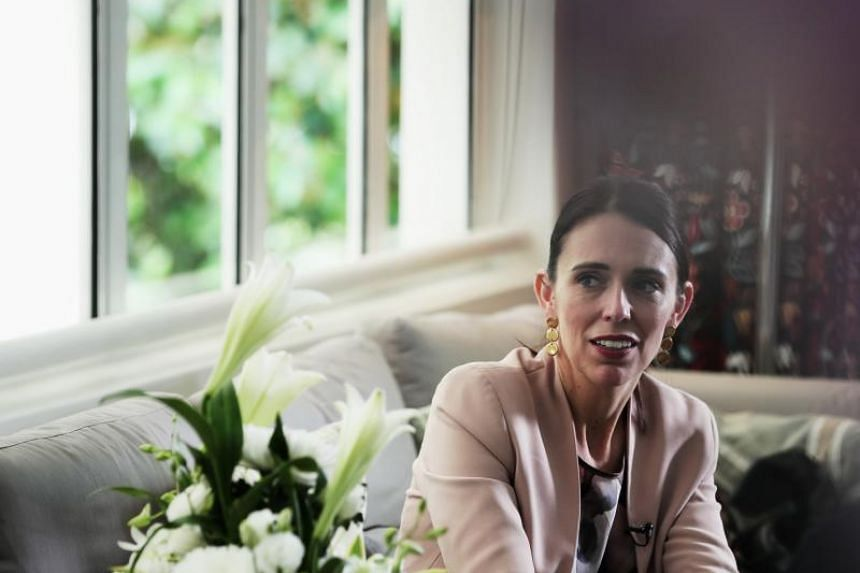 New Zealand Prime Minister Jacinda Ardern during an exclusive interview with The Straits Times' Deputy Foreign Editor Bhagyashree Garekar on May 17, 2019.